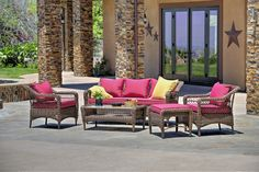 Romana 5 Piece Seating Group with Cushions