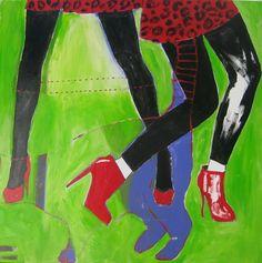 High Heels High Hopes, 2012, Acrylic on canvas, 90x90 cm
