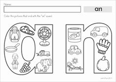 Color It! Word Families CVC and CCVC packet. Fun word work center!