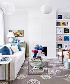 Bright balanced living room