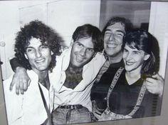 Luiz, Cazuza, Lobão e Marina Lima