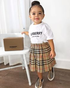 Shop new season & sale Burberry kids. Explore luxury clothing, shoes and accessories for baby, boys and girls. Cute Baby Girl Outfits, Kids Outfits Girls, Cute Outfits For Kids, Toddler Girl Outfits, Cute Baby Clothes, Celebrity Baby Pictures, Cute Baby Pictures, Celebrity Babies, Burberry Outfit