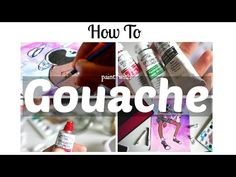 How to Paint with Gouache · Beginner's Tips & Walkthrough · SemiSkimmedMin Watercolor Pencils, Watercolor Paintings, Watercolors, Gouche Painting, Gouache Tutorial, Youtuber, Guache, Painting Techniques, Painting Tools