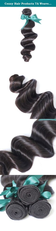 Cexxy Hair Products 7A Weaves Brazilian Loose Wave Hair Mixed Length 100% Virgin Hair for Black Women. Are you looking for high quality hair extensions? You are now making right decision to shop with Cexxy!You can buy good quality hair worth the money you paid here. All Cexxy hair is 100% virgin hair,can be dyed or bleached well,in natural state,in natural color.Its material is collected from its origin by professionals,all is cut from young ladies,washed twice with warm water and...