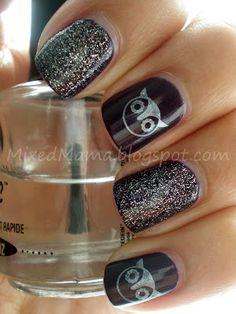Cute owl nails!