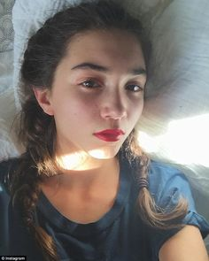 Give her a break: Girl Meets World star Rowan Blanchard, 14, hit back at people who speculated she is depressed because she wasn't smiling in this Instagram selfie, posted on Sunday