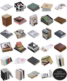 Mio Sims Conversions - Pretty books to enhance your decor.