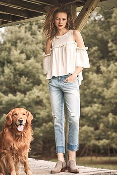 Ruffled Open-Shoulder Top