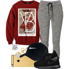 4|4|15 by miizz-starburst on Polyvore featuring polyvore, fashion, style and NIKE