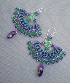 patrickduggandesigns unique artisan jewellery: Another colour combination - Victoria's Earrings