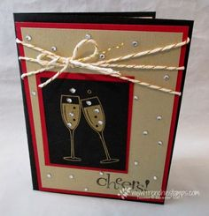 Stamp & Scrap with Frenchie: Stamper's Dozen Blog Hop Happy New Year !