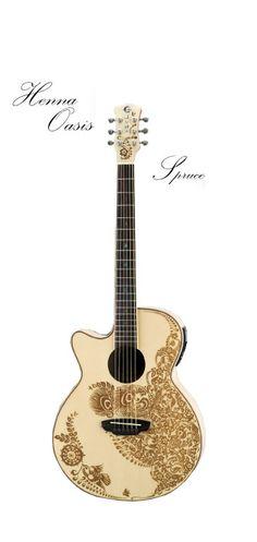 Luna Henna Oasis lefty acoustic guitar