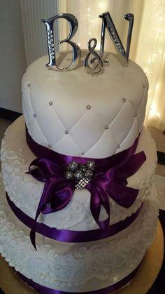 Wedding cake . purple