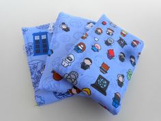 Whovian Baby Burp Cloths  LIMITED EDITION  Set of by SprySprout