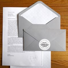 Mark Zuckerbergs Stationery By Designer Ben Barry