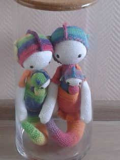 Sepp the seahorse made by Viola R. / crochet pattern by lalylala