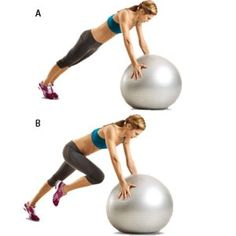 Stability Ball Mountain Climbers