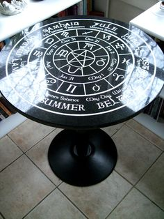 Old World Pagan Wheel of the Year fully engraved by WitchsCupboard