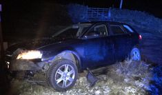 Arrest for drink driving following car crash in Moorside Lane, Oxenhope