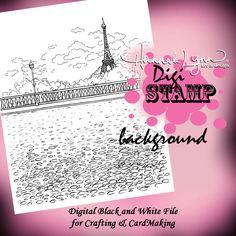 Paris Digi Stamp Background