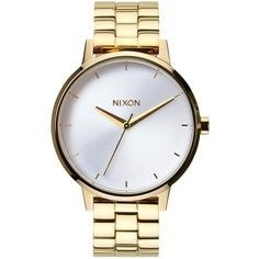 Nixon Women's The Kensington Stainless Steel Bracelet Strap Watch ,... (155 SGD) ❤ liked on Polyvore featuring jewelry, watches, accessories, bracelets, montres, silver watches, silver jewelry, silver gold jewelry, white face watches and polish silver jewelry