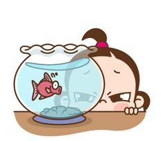 ★카카오톡 '쥐방울 이쁨주의!'이모티콘★ : 네이버 블로그 Chibi Couple, Cute Couple Cartoon, Cute Cartoon Pictures, Cute Love Cartoons, Girly Pictures, Drawing Cartoon Characters, Cartoon Gifs, Cute Characters, Cartoon Art