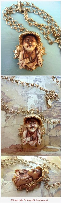FLORENZA Asian Man Netsuke Pendant Necklace Rare Piece Signed Vintage #necklace #pendant #pendantnecklace #charm #florenza #netsuke #asianman #vintage #japan https://www.etsy.com/RenaissanceFair/listing/598829913/florenza-asian-man-netsuke-pendant?ref=listings_manager_grid  (Pinned using https://PromotePictures.com)