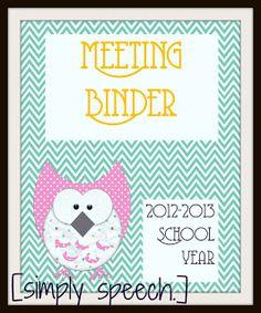 Binder Cover Sheet Freebies!