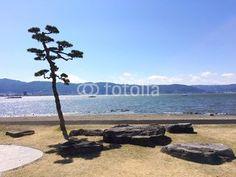 Lakeside park of the Lake Suwa