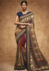 Brilliant Beige and Maroon Tussar Silk Saree  https://www.ethanica.com/products/brilliant-beige-and-maroon-tussar-silk-saree
