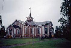 The Lutheran church Ylimarkku, Närpiö,   Ostrobothnia province of Western Finland.- Pohjanmaa - photo Jokinen, Martti