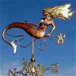 mermaid weathervane for my beach house :) Cottages By The Sea, Beach Cottages, Lightning Rod, Weather Vanes, Mermaids And Mermen, I Love The Beach, Just Dream, Mermaid Art, Sea Creatures