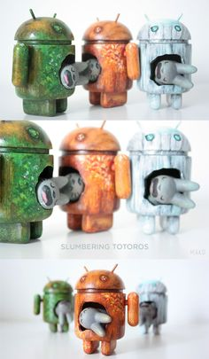 """Labbits  Androids = """"Slumbering Totoros"""" project from MAKO!"""