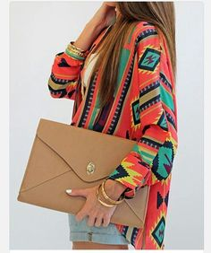 shirt tribal aztec clothes tribal pattern longsleeved aztecprint girls bag