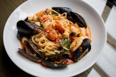 From our limited-time Pasta Bonacini menu, this is one of Chef Michael Bonacini& favourite recipes. Seafood Recipes, Pasta Recipes, Diet Recipes, Recipes Dinner, Seafood Dinner, Fish And Seafood, Seafood Pasta, Masterchef Recipes, Homemade Pasta