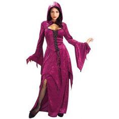 Déguisement Gothique Burgundy Vampira Femme, bal des vampires, Halloween, fêtes.