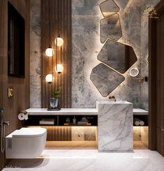Modern Luxury Bathroom, Bathroom Design Luxury, Modern Bathroom Design, Modern House Design, Small Luxury Bathrooms, Washroom Design, Toilet Design, Toilet And Bathroom Design, Home Room Design