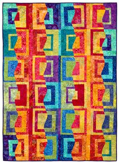"""Have you made a """"Stack the Deck"""" quilt? Karla Alexander's stack, slice, shuffle, and sew technique has spawned several books and thousands of fans. Come see the surprising designs you can create with this fast, fun method."""