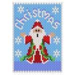 ThreadABead Christmas Santa Panel Pattern