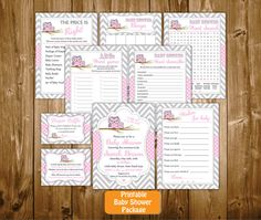 code.NS3117  Baby Shower Printable Party Set!! The perfect touch to your baby shower party!!  -----------------------------------PLEASE NOTE--------------------------------------  This listing is for digital invitation ONLY! You will NOT get anything by mail. This listing is for those who like DIY projects!  You will receive a PDF file to print it your self!!  The listing includes: 1. Personalized Baby Shower Invitation size 5x7 (prints 2 per page) 2. Diaper Raffle Tickets size 4x2.5 (prints…