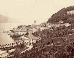 View of Bellagio - Lake Como Turu, Lake Como, Genealogy, Paris Skyline, 19th Century, Vacation, Places, Travel, Life