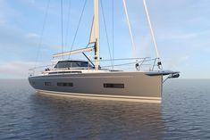 Amel lance une nouvelle unité - l'Amel 50 — présenté en première mondiale en septembre 2017 au Cannes Yachting Festival. D'une longueur de 15 m, cette nouveauté sera le plus petit modèle de la gamme et s'adresse à une nouvelle clientèle avec un programme plus varié. Pour ce faire, le chantier mise sur une nouvelle carène, un nouveau gréement et de nombreuses petites nouveautés. Découvrez les premières images de l'Amel 50.