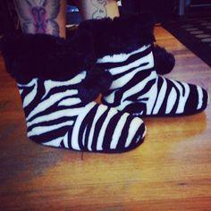 Zebra Print Booties