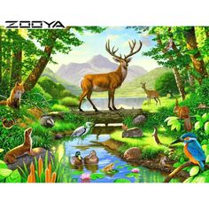"""Search Results for """"forest animals wallpaper"""" – Adorable Wallpapers Wildlife Paintings, Wildlife Art, Jungle Art, Cross Paintings, Resin Paintings, Animal Wallpaper, Hd Wallpaper, Nature Pictures, Deer Pictures"""