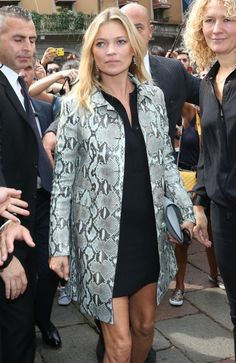 From London To Milan: Kate Moss Sits Front Row At Gucci As MFW Begins