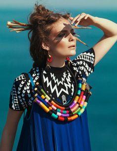 African Rope Necklace, Ethnic Statement Necklace, Tribal Rope Jewelry, Oversized Statement Necklace, Tribal Bib Necklace by KiaFilStudios on Etsy https://www.etsy.com/listing/229422969/african-rope-necklace-ethnic-statement
