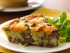 Cheeseburger Pie  Ingredients:  •1 lb lean (at least 80%) ground beef  •1 medium onion, chopped  •1/2 teaspoon salt  •1/8 teaspoon pepper  •1 cup shredded Cheddar cheese (4 oz)  •1/2 cup Bisquick® Gluten Free mix  •1 cup milk  •3 eggs