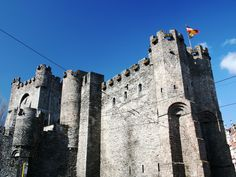 Medieval Ghent - Castle of the Counts in  Belgium