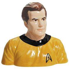 Captain Kirk Cookie Jar. I need this.