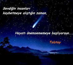 Sevdiğin insanları kaybetmeye alıştığın zaman, hayatı önemsememeye başlıyorsun... - Tolstoy